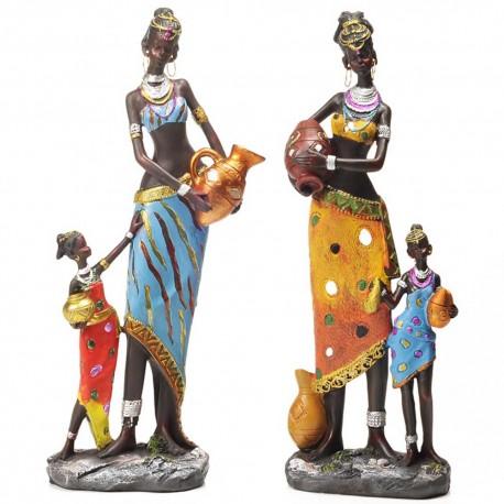 Statues Femmes et Filles Africaines (34cm)