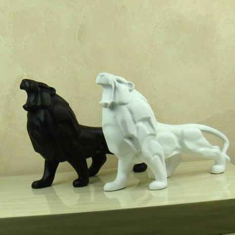 Statue Lion Blanc