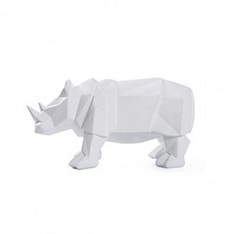 Statue Rhinocéros Blanc 32cm