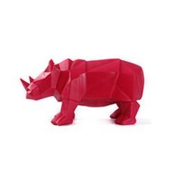 Statue Rhinocéros Rouge 32cm