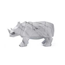 Statue Rhinocéros Marbre 32cm