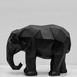 Statue Éléphant Noir 27cm